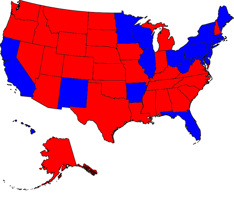 McCain vs Democrat #1 as of 030608 USA Electoral Map