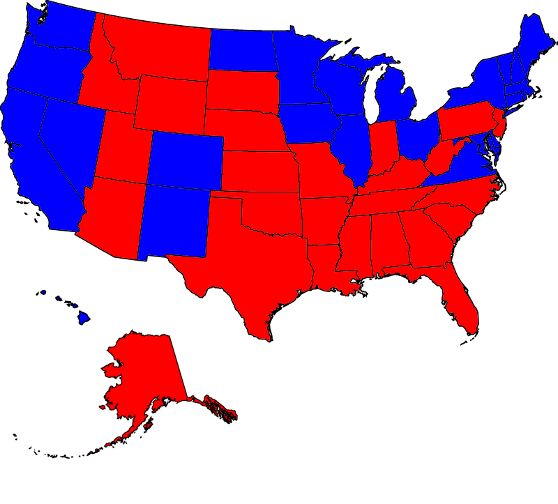 McCain vs Democrat #2 USA Electoral Map as of 030608