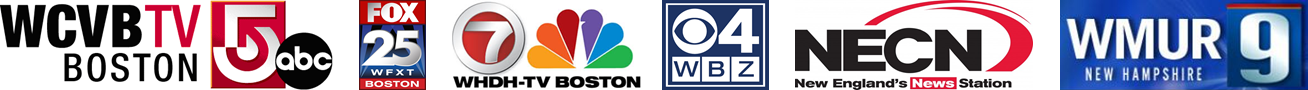 Boston TV Station Logos, WCVB WMUR, NECN, WHDH, WBZ, WFXT