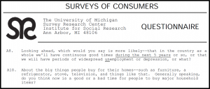 C U Michigan consumer sentiment questions